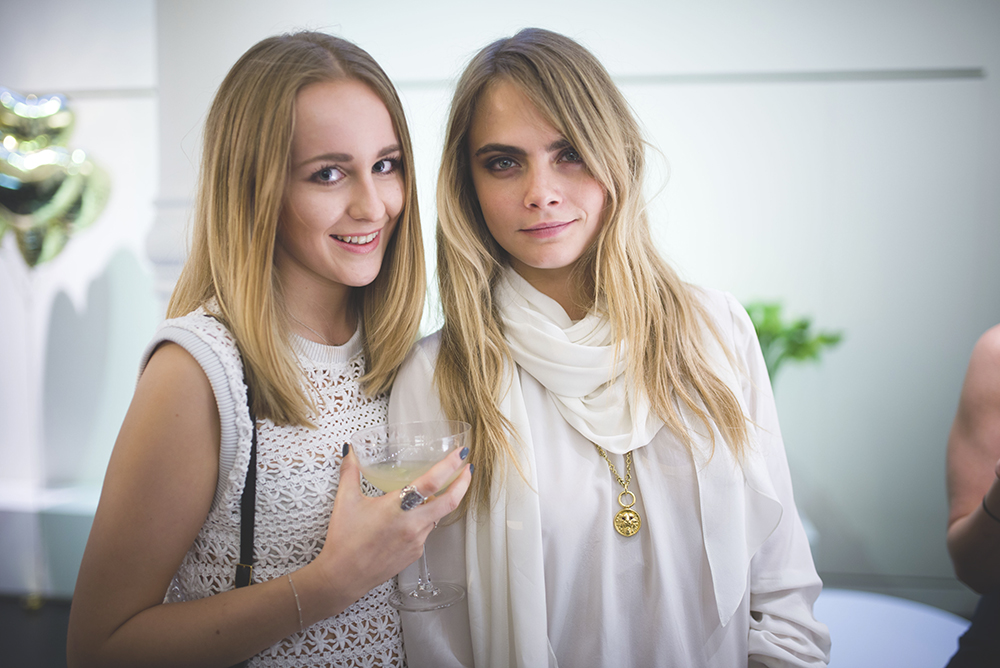 cadfbb7e130 Cara Delevingne x Mulberry launch party in SoHo - Tiphaine Marie ...